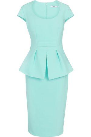 adidas Women Midi Dresses - Sasha crêpe peplum midi dress