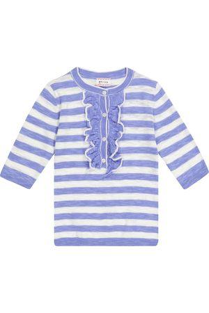 adidas Nixie striped cotton-blend sweater