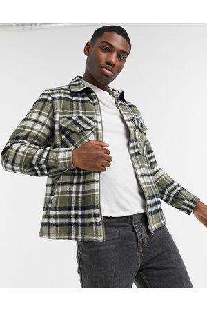 adidas Check overshirt in