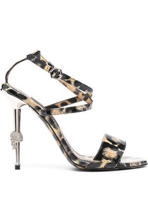 adidas Leopard-print strappy sandals