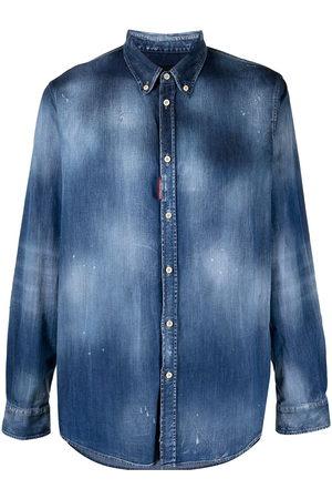 adidas Men Denim - Distressed denim shirt