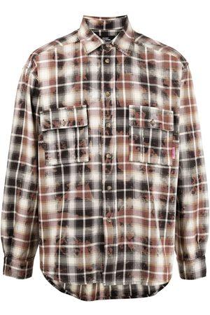 adidas Men Long Sleeve - Plaid-print cotton shirt