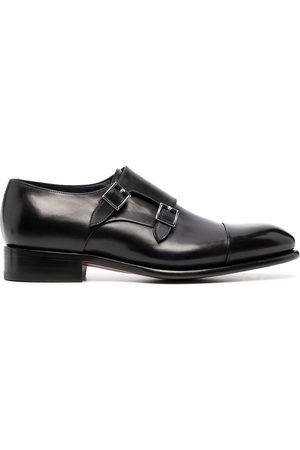 adidas Men Footwear - Double-buckle leather monk shoes