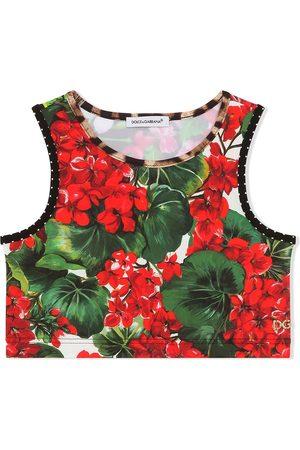 adidas Girls Tankinis - Floral-print tankini top