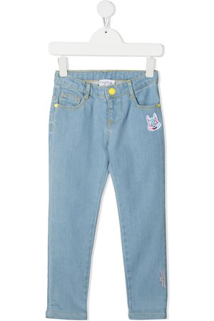 The Marc Jacobs Embroidered bunny skinny jeans
