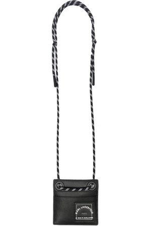 Karl Lagerfeld Men Wallets - Logo-print neck-strap wallet