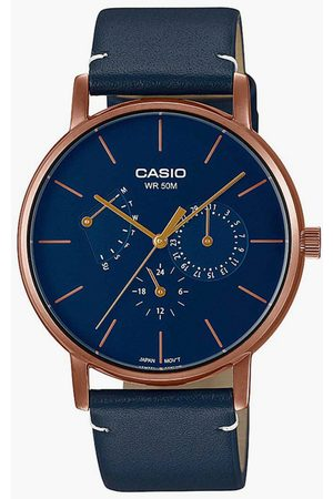 Casio Men Analog Watch with Leather Strap - A1844