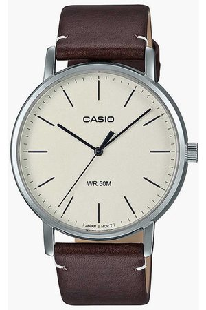 Casio Men Analog Watch with Leather Strap - A1836