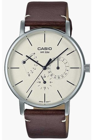 Casio Men Analog Watch with Leather Strap - A1841