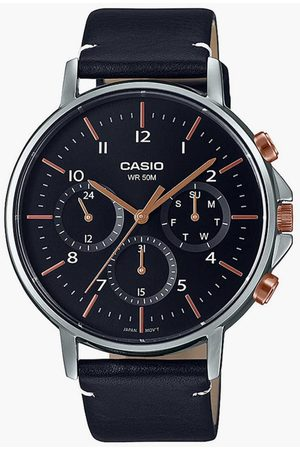 Casio Men Analog Watch with Leather Strap - A1847