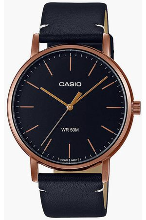 Casio Men Analog Watch with Leather Strap - A1839