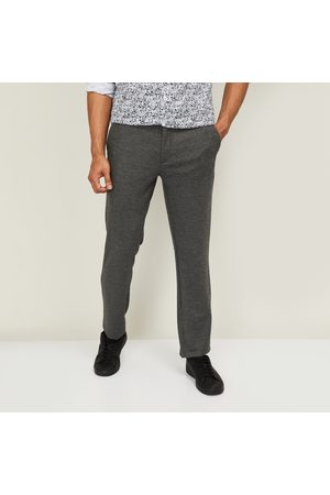adidas Men Textured Slim Tapered Casual Trousers