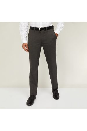 adidas Men Textured Slim Tapered Solid Trousers