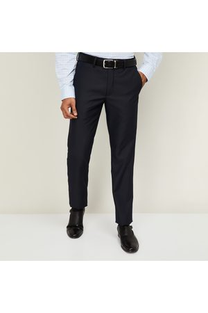 adidas Men Textured Slim Tapered Formal Trousers