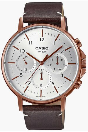 Casio Men Analog Watch with Leather Strap - A1850