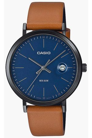 Casio Men Analog Watch with Leather Strap - A1830