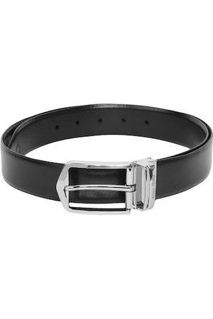Allen Solly Men Black Solid Leather Belt