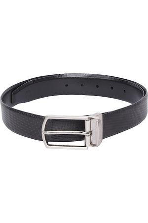 Allen Solly Men Black Textured Leather Belt