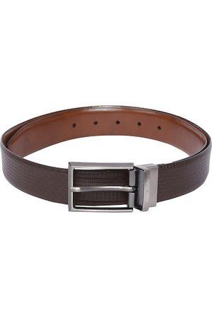 Allen Solly Men Brown Textured Leather Belt