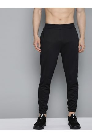 HRX by Hrithik Roshan Men Jet Black Solid Slim Fit Rapid-Dry Antimicrobial Training Joggers