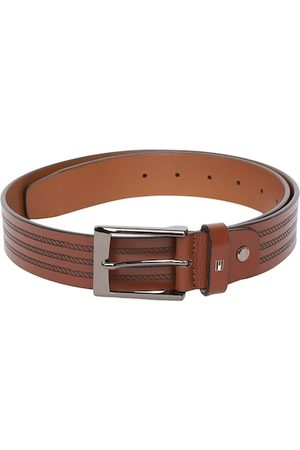 adidas Men Brown Textured Leather Belt