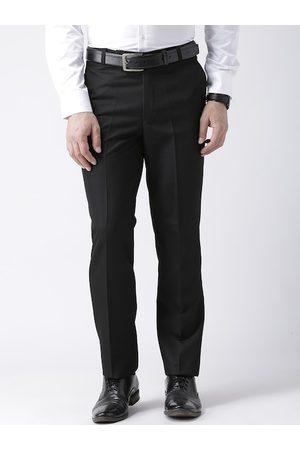 adidas Men Black Regular Fit Solid Formal Trousers