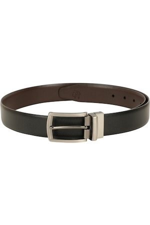 adidas Men Black & Brown Textured Reversible Belt