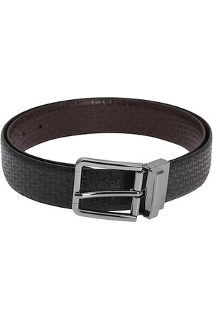 adidas Men Black & Brown Solid Reversible Leather Belt
