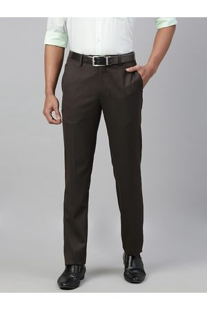 adidas Men Brown Slim Fit Solid Regular Trousers