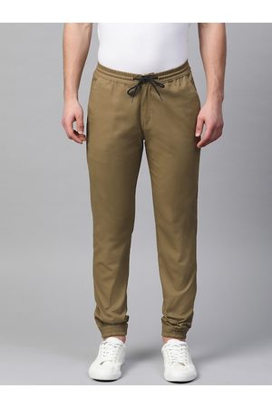 adidas Men Khaki Slim Fit Solid Joggers