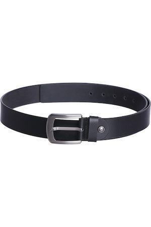 KARA Men Black Solid Genuine Leather Belt