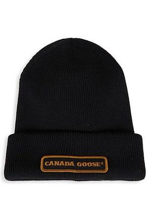 Canada Goose Ribbed Logo Beanie