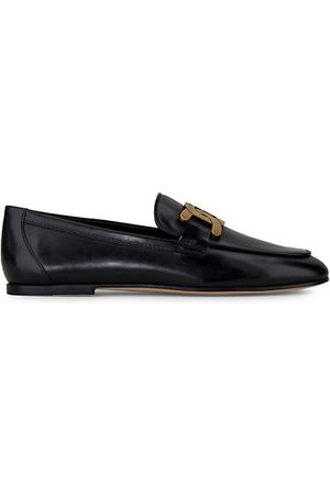 Tod's Kate Almond-Toe Leather Loafers