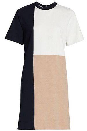 AKRIS Women Knitted Dresses - Tricolor Knit Shift Dress