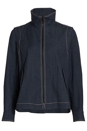 AKRIS Stand Collar Denim Jacket