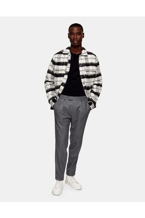 Topman Twill tapered trousers in