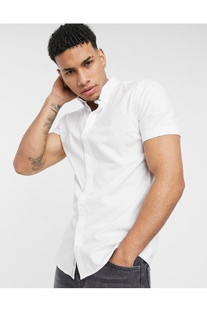 River Island Short sleeve muscle fit oxford in