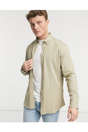 SELECTED Jersey shirt in beige