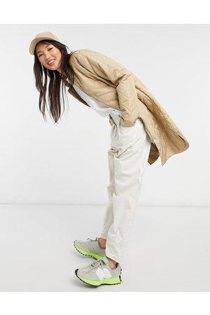 Selected Women Coats - Femme quilted longline coat in beige