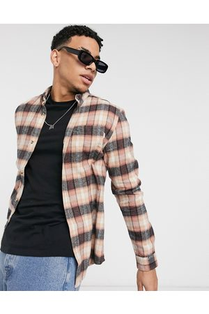 River Island Long sleeve check shirt in washed