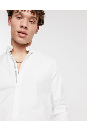 River Island Muscle fit oxford shirt in