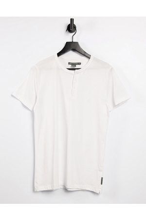 French Connection Men Short Sleeve - Henley t-shirt in