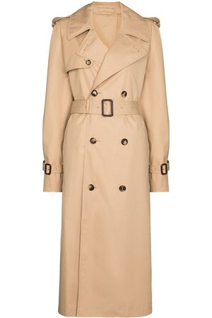 WARDROBE.NYC Women Trench Coats - Belted double-breasted trench coat