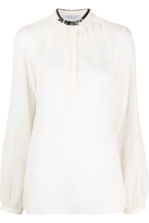 GABRIELA HEARST Belted collar long-sleeved shirt