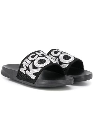 Michael Kors Embellished logo slippers