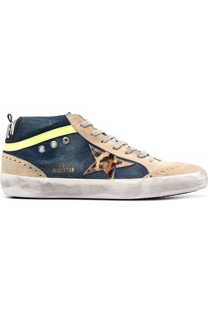 Golden Goose Mid-Star denim sneakers