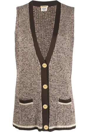 Céline Women Vests - Pre-owned knitted wool vest