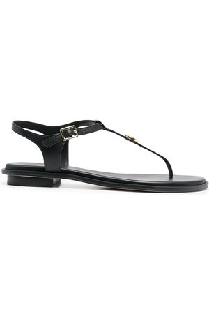 Michael Kors Women Platform Sandals - Logo plaque T-bar sandals