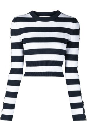 Michael Kors Women Jumpers - Striped crew-neck jumper