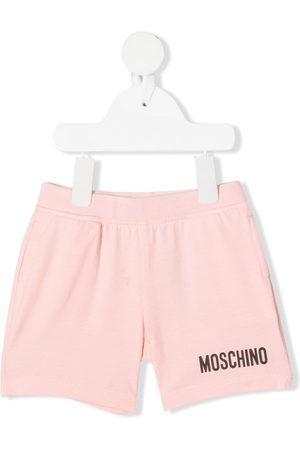 Moschino Shorts - Logo-print track shorts